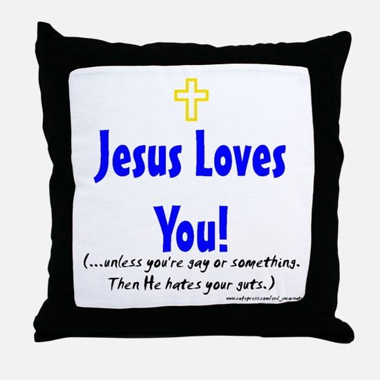 Jesus loves you Throw Pillow