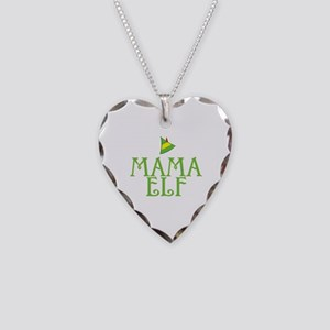 Mama Elf Necklace Heart Charm