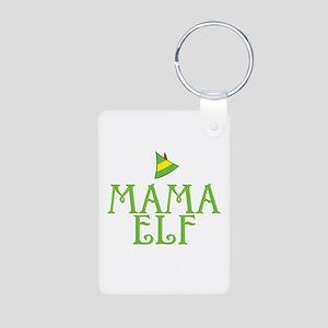 Mama Elf Aluminum Photo Keychain