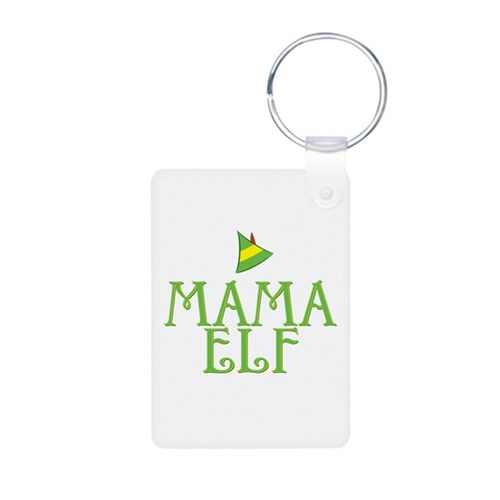 Mama Elf Aluminum Photo Keychain