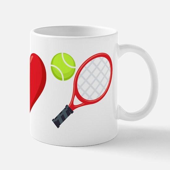 I Heart Tennis Emoji Mug