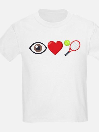 I Heart Tennis Emoji T-Shirt