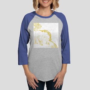 unicorn_gold-nottrans Womens Baseball Tee
