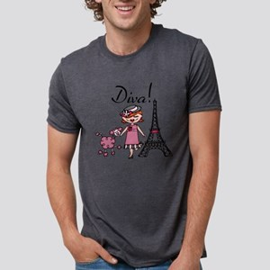 Red Haired Diva Mens Tri-blend T-Shirt