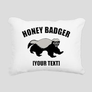 Honey Badger Custom Rectangular Canvas Pillow