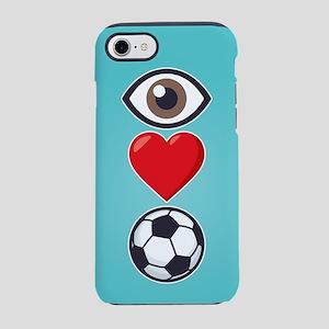 I Heart Soccer Emoji iPhone 7 Tough Case