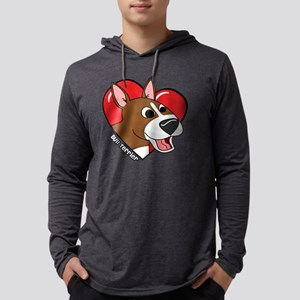 heartbullterrier_blk Mens Hooded Shirt