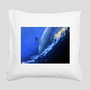 Shark Square Canvas Pillow