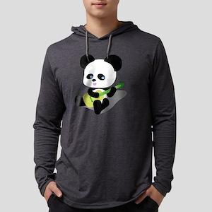 Panda Ukulele Mens Hooded Shirt