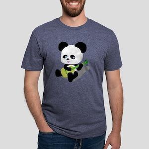 Panda Ukulele Mens Tri-blend T-Shirt