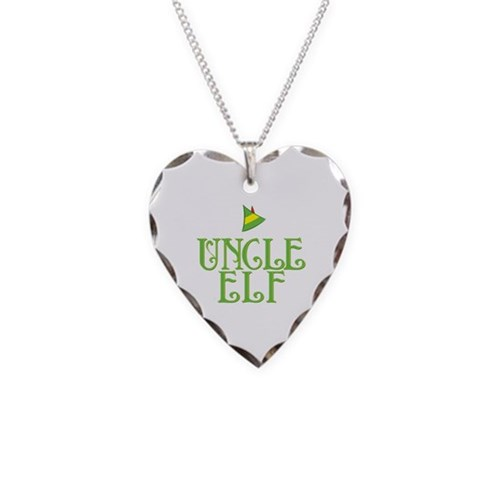 Uncle Elf Necklace Heart Charm