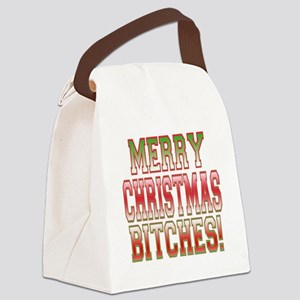 Merry Christmas Bitches Canvas Lunch Bag