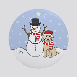 Yellow Labrador Retriever Winter Ornament