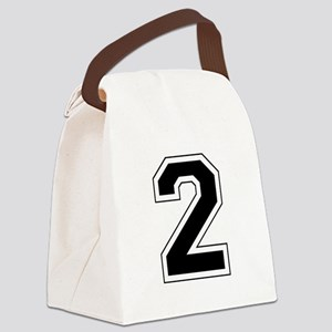2 black Canvas Lunch Bag
