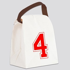 4 red Canvas Lunch Bag