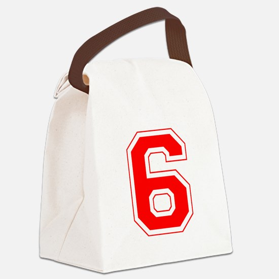 6 red.png Canvas Lunch Bag