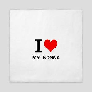 I Love My Nonna Queen Duvet