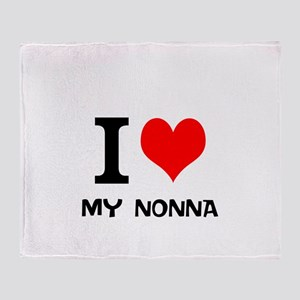 I Love My Nonna Throw Blanket