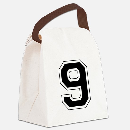 9 black.png Canvas Lunch Bag