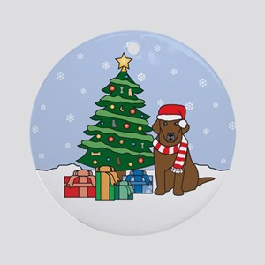 Chocolate Labrador Retriever Christmas Ornament
