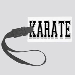 Karate Large Luggage Tag