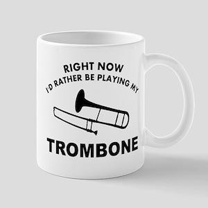 Trombone silhouette designs Mug