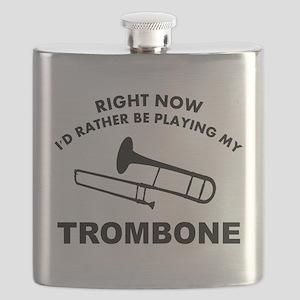 Trombone silhouette designs Flask
