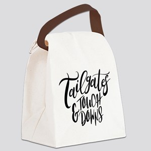 Tailgates and Touchdowns Canvas Lunch Bag
