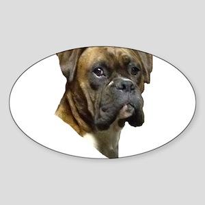 Boxer Sticker (Oval)