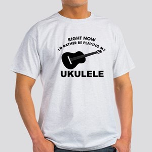 Ukulele silhouette designs Light T-Shirt