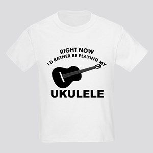 Ukulele silhouette designs Kids Light T-Shirt