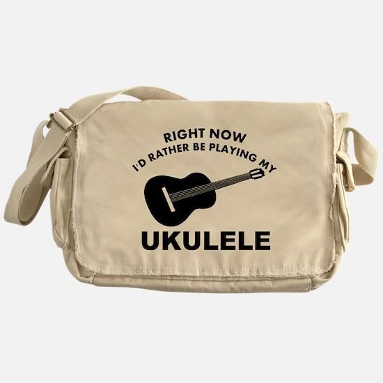 Ukulele silhouette designs Messenger Bag