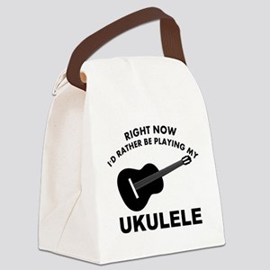 Ukulele silhouette designs Canvas Lunch Bag