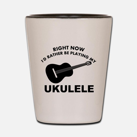 Ukulele silhouette designs Shot Glass