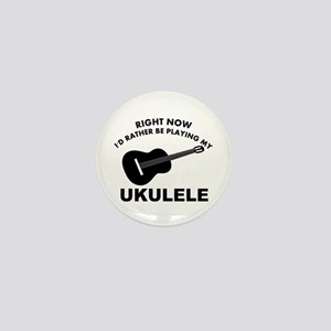 Ukulele silhouette designs Mini Button