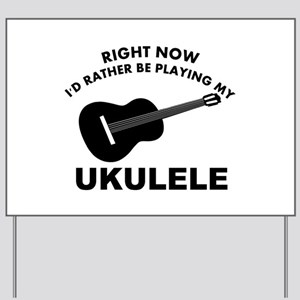 Ukulele silhouette designs Yard Sign
