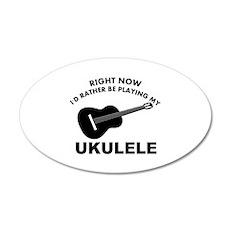 Ukulele silhouette designs Wall Sticker