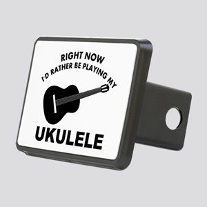 Ukulele silhouette designs Rectangular Hitch Cover