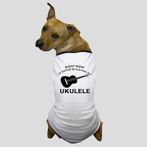 Ukulele silhouette designs Dog T-Shirt