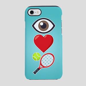 I Heart Tennis Emoji iPhone 7 Tough Case