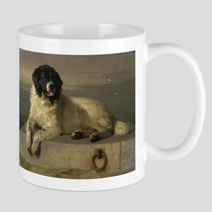 Newfoundland-Landseer Resting by the Shore Mug