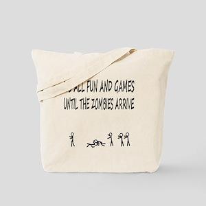 Fun and Games black print Tote Bag