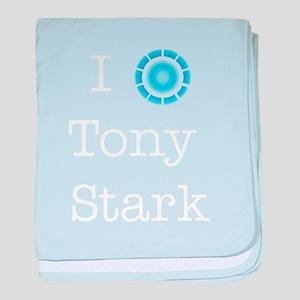 I (heart) Tony Stark baby blanket