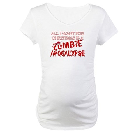 Christmas Zombie Apocalypse Maternity T-Shirt