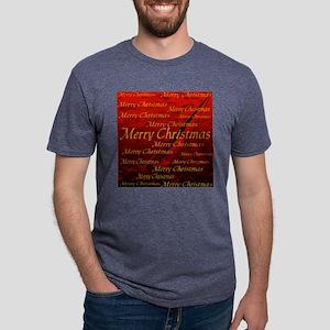 merry christmas tile1 Mens Tri-blend T-Shirt