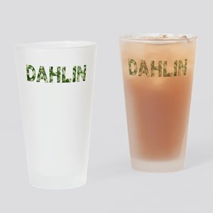 Dahlin, Vintage Camo, Drinking Glass
