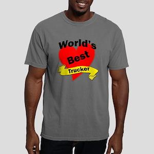 Worlds Best Trucker Mens Comfort Colors Shirt