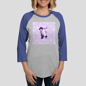 A-penguin-pale-purple-3 Womens Baseball Tee