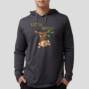 Boy Monkey Little Swinger Mens Hooded Shirt