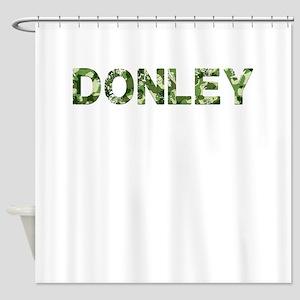 Donley, Vintage Camo, Shower Curtain